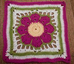 Ripple Star pattern by Donna Mason-Svara Crochet Bunting, Crochet Squares Afghan, Crochet Blocks, Granny Square Crochet Pattern, Crochet Granny, Crochet Blanket Patterns, Crochet Motif, Knit Crochet, Granny Squares