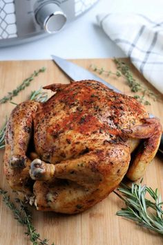 This Crockpot Whole Chicken is a super easy comforting meal, perfect for a lazy Sunday, a busy weeknight or as part of a holiday spread. Slow Cooker Recipes, Crockpot Recipes, Clean Recipes, Healthy Recipes, Chicken With Olives, Easy Chicken Recipes, Easy Recipes, Midweek Meals, Family Meals
