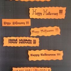 Etiquettes tags halloween orange et noires