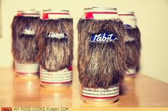 Pabst Beard Ribbon  Your beer deserves a koozie that matches your personality.
