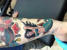 Mermaid #oldschool #tattoo