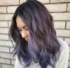 12-ashy-grey-wavy-long-bob-with-lavender-and-purple-balayage-perfectly-match-in-the-shades.jpg (564×548)