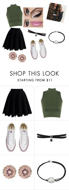 """luck of the Irish part 1"" by shalisajohnson on Polyvore featuring Chicwish, WearAll, Converse, Victoria's Secret, Fallon, Ted Baker and Alex and Ani"