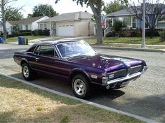 67 Mercury Cougar in Purple - yes, this is the one.