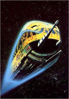 Moment d'inspiration: Chris Foss Illustrations, Illustration Art, Art Science Fiction, Sci Fi Kunst, Psychedelic Space, 70s Sci Fi Art, Classic Sci Fi, Classic Beauty, Sci Fi Novels