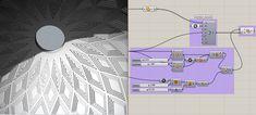 Diagrid curves offset in 3-D