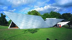 "Daniel Libeskind's 2001 Serpentine Gallery Pavilion was folded ""like a piece of origami"""