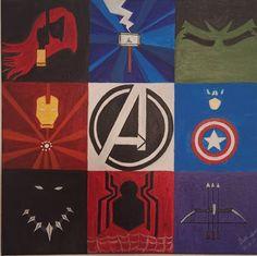 Original Comics Painting by Subhashini Ramesh   Pop Art Art on Canvas   Avengers