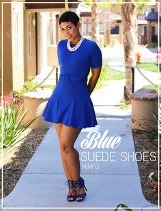 DIY Blue Flounce Dress   Steve Madden Heels