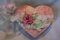 love heart shaped chipboard album by chalkaholic on Etsy, $23.00