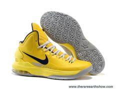 Men's Yellow Grey Nike Zoom KD V 554988 700