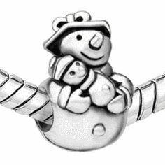 Discount Pandora Snowman Charm | 2017 Pandora European Snowman ... Pandora Charms 2017, Smurfs, Snowman, Charmed, Crafts, Fictional Characters, Art, Art Background, Manualidades