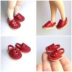 Blythe Shoes   Blythe boots Red Pykifee shoes  Lati by BlytheMix