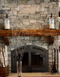 Hurricanes on fireplace