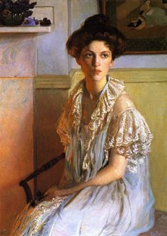 The Athenaeum - Lady with a Bowl of Violets (Lilla Cabot Perry - circa 1910)