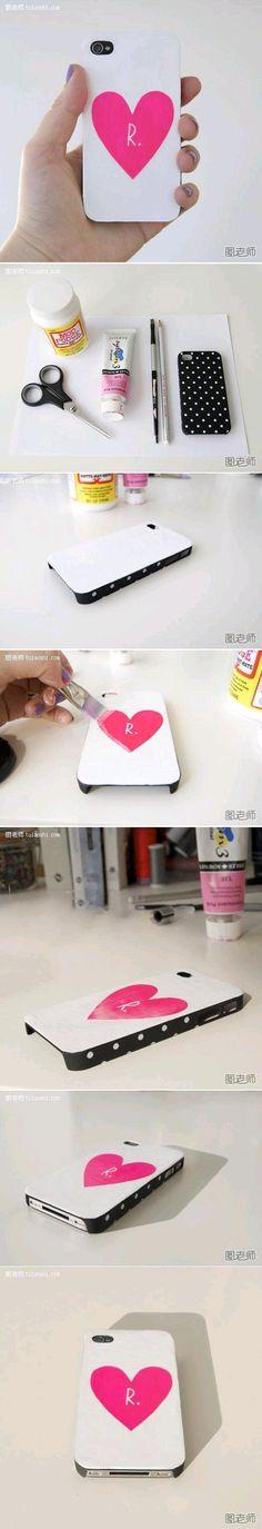 DIY Love Peach iPhone Case