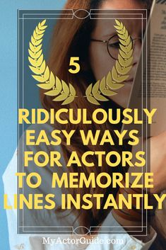 If you want to be an actor you are going to have to memorize lines – a lot! While some people are blessed with a photographic memory, most actors, especially new actors struggle to memorize lines. Acting Lessons, Acting Class, Acting Tips, Voice Acting, Acting Scripts, Movie Scripts, Drama Education, Drama Class, How To Memorize Lines