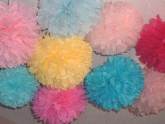 Tissue paper poms, Wedding decorations, Baby shower, Wedding anniversary, Bridal party, Party decorations. Set of 25
