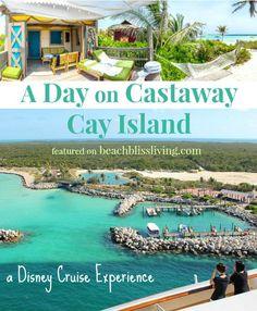 A day on Castaway Island in a Beach Cabana! A Disney Cruise Experience: http://beachblissliving.com/beach-cabana-castaway-cay/