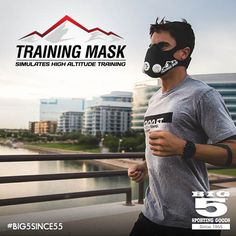 Take your training to the next level with the Training Mask that simulates high-altitude training.
