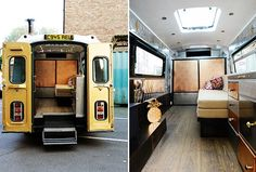 Glamping in a converted Merceced Ambulance in Shoreditch, England