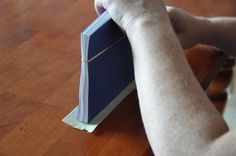 Hot glue binding for books.