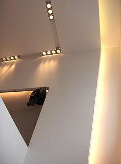 Another lighting detail inside the Tonali shop in Belgium by architect Bruno Erpicum _