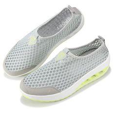premium selection f6ce3 3b772 Mesh Breathable Pure Color Slip On Athletic Platform Casual Sport Shake Shoes  Zapatos En Línea,