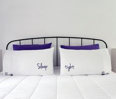 Persuasive TALKING PILLOWCASES by Talking Pillows // double-sided pillowcases with double-meanings. Very cheeky! #productdesign #designinspiration