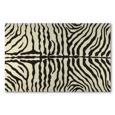 The Rug Market Resort Zebra Brown Outdoor Rug - 25219