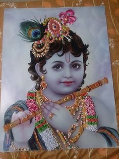 Quilled Krishna