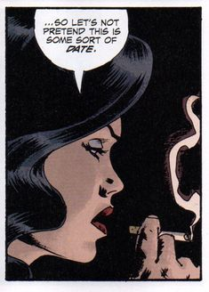 "Comic girls say... ""So Let's not pretend this is some sort of date "" #comic #popart"