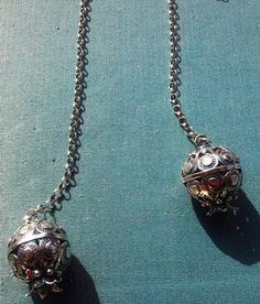 Sterling silver pomegranate pendants necklace by Bluenoemi on Etsy, $260.00
