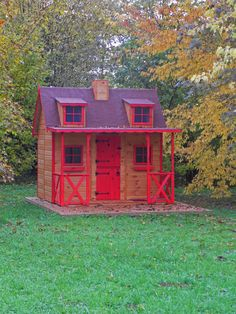 Casita de madera infantil POSADA en el otoño francés / POSADA playhouse in the French autumn!