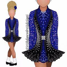 Dance Dresses, Blue Dresses, Triple Goddess, Dress Sketches, Irish Dance, Wedding Art, Little Princess, Dance Costumes, Wedding Designs