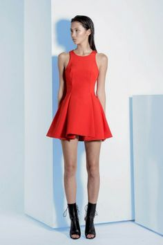 GEROME DRESS jaffa red