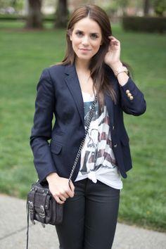 2012 Tee UO/Blazer J. Crew, Jeans 7FAM, Purse Rebecca Minkoff, Oxfords Zara