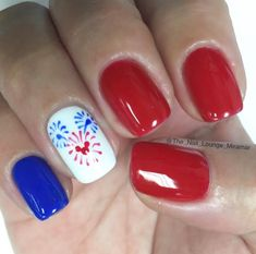 loving these nails for summer or just feeling patriotic!