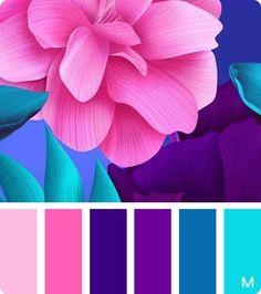 Farbkombinationen Fresh flower color palette color palette Wedding Gowns: A Guide For Color Schemes Colour Palettes, Colour Pallette, Color Palate, Color Combos, Purple Color Schemes, Decoration Palette, Design Seeds, Colour Board, Color Swatches