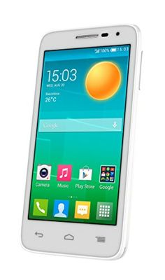 "Alcatel D5 Dual SIM - Terminal libre de 4.5"" (512 MB de RAM, 4 GB, cámara de 5 MP) color blanco"