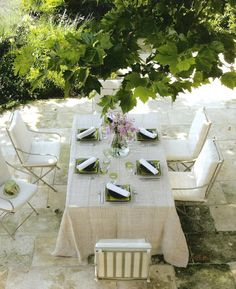 elegant outside table