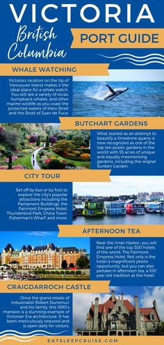 This port guide highlights all of the popular things to see and do while visiting Victoria, British Columbia on an Alaskan Cruise. Packing For A Cruise, Cruise Travel, Cruise Vacation, Packing Lists, Vacations, Best Cruise, Cruise Port, Cruise Tips, Victoria British Columbia