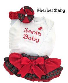 Long or Short Sleeve Christmas Plaid Sassy Pants