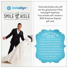 Invisalign is giving one lucky bride a full Invisalign treatment and giving other brides a $250 gift card to help with wedding expenses! #InvisalignBrides  #ad