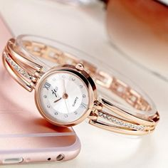 JW 3512 Fashion Round Dial Rhinestones Alloy Lady Bracelet Bangle Women Dress Quartz Watch at Banggood Body Jewelry, Jewelry Sets, Jewelry Watches, Women Jewelry, Jewellery, Bangle Bracelets, Bracelet Watch, Bangles, Wearable Device
