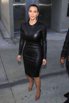 kim-kardashian-in-black-leather-dress-01.jpg 660×980 pixels
