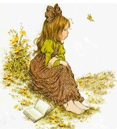 Betsey Clark, Holly Hobbie, Sarah Kay e outros Holly Hobbie, Sara Key Imagenes, Mary May, Vintage Drawing, Picture Day, Cute Illustration, Cute Kids, Illustrators, Pretty