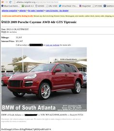 Put A Fake For Listing Your Friend S Car Online Great