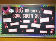 Breast Cancer Awareness bulletin board