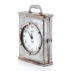 Zegar Mazine- srebrny